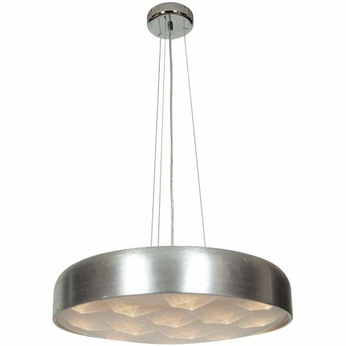 Access 70084LEDD-BSL-ACR Meteor Contemporary Brushed Silver Finish 23 Wide LED Pendant Lamp
