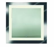 Access 70086LEDD-MIR Spa Contemporary Mirror & Frosted Glass LED Vanity Lighting Fixture