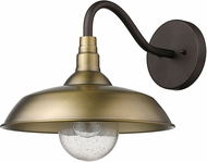 Acclaim Lighting 1742ATB Burry Antique Brass Outdoor Wall Lighting Sconce