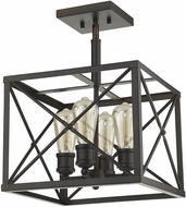 Acclaim Lighting IN21124ORB Brooklyn Oil-Rubbed Bronze Convertible Ceiling Lighting Fixture