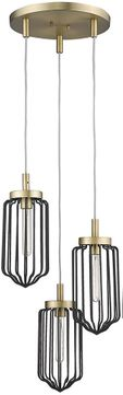 Acclaim Lighting IN31501AB Reece Contemporary Aged Brass Multi Drop Ceiling Light Fixture