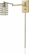 Acclaim Lighting IN41030AB Jett Contemporary Aged Brass Wall Swing Arm Lamp