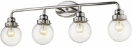 Acclaim Lighting IN41227PN Portsmith Contemporary Polished Nickel 4-Light Bath Light Fixture