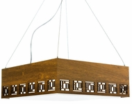 Accord Lighting 1007 Patterns Imbuia 21  Ceiling Pendant Light