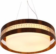 Accord Lighting 1104CL Crystals Imbuia LED 23  Pendant Light