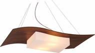 Accord Lighting 1108 Clean Contemporary Imbuia Hanging Pendant Lighting