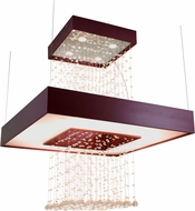 Accord Lighting 1245C Crystals Imbuia Ceiling Pendant Light