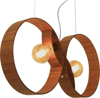 Accord Lighting 1307 Sfera Modern Teak Drop Lighting