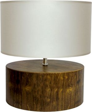 Accord Lighting 145 Cylindrical Imbuia Table Light