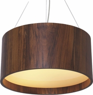 Accord Lighting 202 Cylindrical Imbuia 20  Drum Hanging Lamp