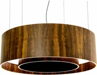 Accord Lighting 215 Cylindrical Imbuia 23  Drum Pendant Lamp