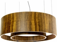 Accord Lighting 215F Cylindrical Imbuia 23  Drum Pendant Light Fixture