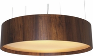 Accord Lighting 217L Cylindrical Imbuia LED 35  Drum Hanging Pendant Light