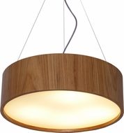 Accord Lighting 231L Cylindrical Imbuia LED 20  Drum Hanging Light Fixture