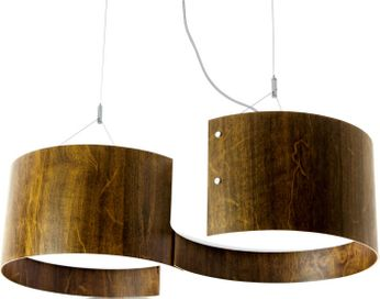 Accord Lighting 283 Organic Contemporary Imbuia Hanging Pendant Lighting