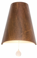 Accord Lighting 4018C Conical Imbuia Wall Sconce