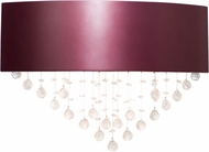Accord Lighting 4062 Crystals Imbuia Wall Light Sconce