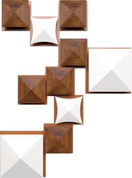 Accord Lighting 4074L Faceted Modern Imbuia LED Wall Sconce Lighting