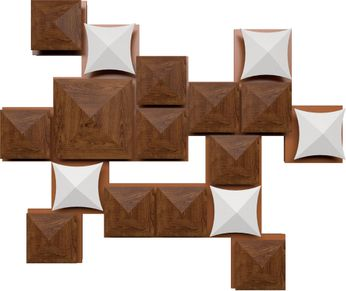 Accord Lighting 4076L Faceted Contemporary Imbuia LED Wall Light Sconce