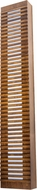 Accord Lighting 470L Slatted Wall Lamp 470 LED Imbuia LED 47  Light Sconce