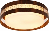 Accord Lighting 5026CL Crystals Imbuia LED 23  Flush Mount Lighting