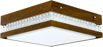 Accord Lighting 5028CL Crystals Imbuia LED 21 Flush Ceiling Light Fixture