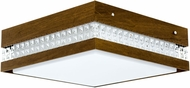 Accord Lighting 5046C Crystals Imbuia 14  Flush Mount Lighting