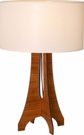 Accord Lighting 7015M Clean Contemporary Imbuia Table Top Lamp