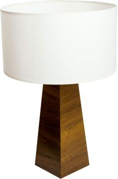 Accord Lighting 7023S Faceted Imbuia Side Table Lamp