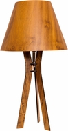 Accord Lighting 7025S Clean Contemporary Imbuia Lighting Table Lamp