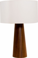Accord Lighting 7026M Conical Imbuia Side Table Lamp
