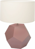 Accord Lighting 7030 Faceted Tea Pink Table Lamp