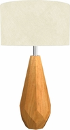 Accord Lighting 7051 Faceted Imbuia Table Top Lamp