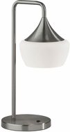 Adesso 2142-22 Eliza Contemporary Brushed Steel Lighting Table Lamp