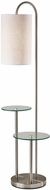 Adesso 4008-22 Leonard Contemporary Brushed Steel Floor Lamp