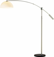 Adesso 4134-22 Outreach Modern Brushed Steel Floor Lamp Lighting