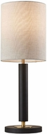 Adesso 4173-01 Hollywood Contemporary Black with Antique Brass Lighting Table Lamp