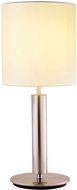 Adesso 4173-22 Hollywood Contemporary Brushed Steel Table Lamp Lighting