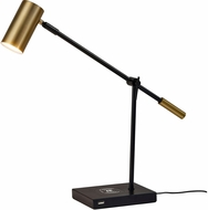 Adesso 4217-01 Collette Contemporary Black and Antique Brass LED Craft Lamp