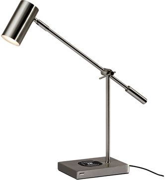 Adesso 4217-22 Collette Contemporary Brushed Steel LED Task Lighting