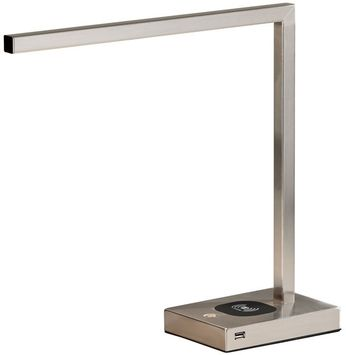 Adesso 4220-22 Aidan Modern Brushed Steel LED Desktop Lamp