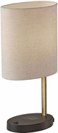 Adesso 4223-21 Curtis Contemporary Black with Antique Brass Table Lamp