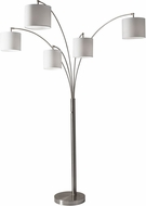 Adesso 4239-22 Trinity Modern Brushed Steel Floor Lamp