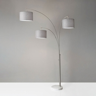 Adesso 4250-22 Bowery Modern Brushed Steel Floor Lamp Light