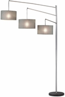 Adesso 4255-22 Wellington Modern Brushed Steel Light Floor Lamp