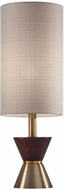 Adesso 4268-21 Carmen Contemporary Antique Brass and Walnut Rubberwood Table Top Lamp