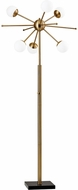Adesso 4271-21 Doppler Modern Antique Brass LED Floor Lighting