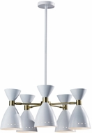Adesso 4280-02 Oscar White with Antique Brass Chandelier Lighting