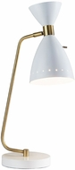 Adesso 4281-02 Oscar White with Antique Brass Task Lamp
