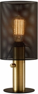 Adesso 4322-21 Nico Contemporary Black and Antique Brass 6  Table Lamp